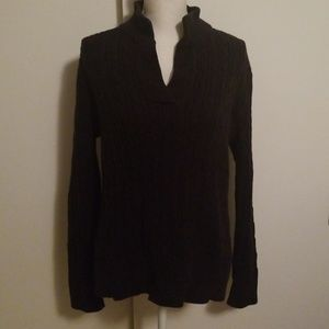 Black Liz  Claiborne vneck sweater